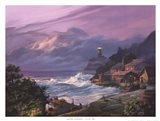 Sunset Fog Art Print