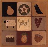 Folk Art Patch Art Print