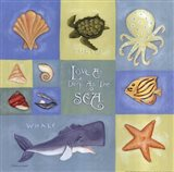 Love As Deep As The Sea (collage) Art Print