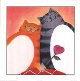 Fat Cats II Art Print
