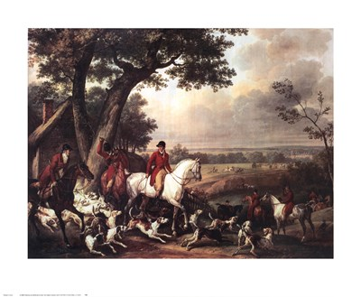 Hunt in the Park in Fountainbleau Art Print by Vernet
