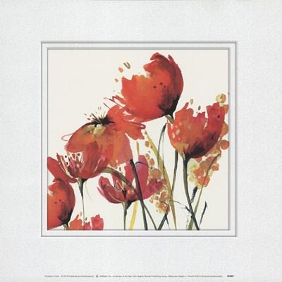 Watercolor Garden 3 Art Print by Evans