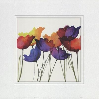 Watercolor Garden 4 Art Print by Evans