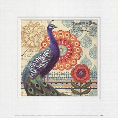 Vintage Peacock I Art Print by Brinley