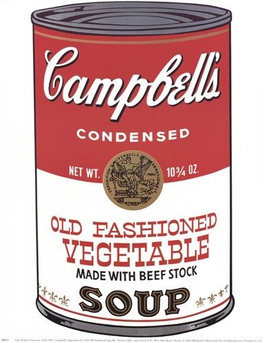 Campbell's Soup (Ica) Art Print by Warhol