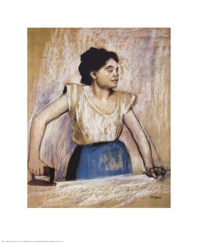 Girl At Ironing Board