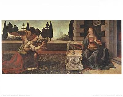 Annunciation Art Print by Da Vinci