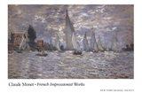 Les Barques, Regates a Argenteuil Art Print