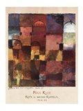 Rote U Weisse Kuppeln, 1914 Art Print
