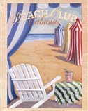 Beach Club Cabanas Art Print