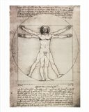 Vitruvian Man, 1492 Art Print