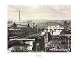 River Seine and the City of Paris Art Print