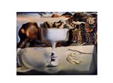 Apparition of Face and Fruit Dish on a Beach, c.1938 Art Print