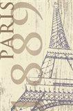 SS - Paris 1889 In Beige Art Print