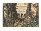 Der Garten des Generalife Bei Graneda Art Print