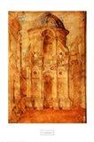 Cityscape with the Tempio Malatestiano Art Print