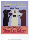 Three Lab Bakery Art Print