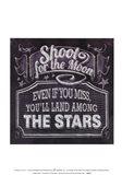 Chalkboard - The Moon & The Stars Art Print