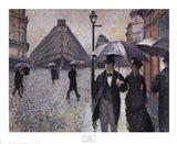 Paris, a Rainy Day, 1877 Art Print