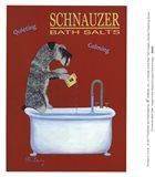Schnauzer Bath Salts Art Print