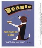 Beagle Buns Art Print