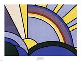 Modern Painting of Sun Rays Art Print