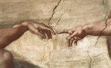 Creation Of Adam (detail of hands) Art Print