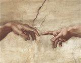 The Creation of Adam (Detail) Art Print