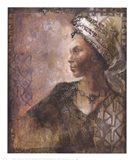 Raffia Robed Lady I Art Print