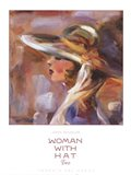 Woman with Hat Two Art Print