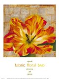 Fabric Floral Two Art Print