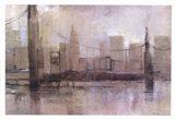 Skyline Bridge I Art Print