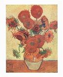Vase with Fifteen Sunflowers, c.1888 Art Print