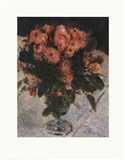 Mossy Roses Art Print