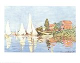 Boating at Argenteuil Art Print