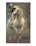 Soldier on Horseback Art Print