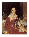 Madame De Sennones Art Print