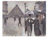 Paris - A Rainy Day, 1877 Art Print