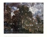 John Constable - On the River Stour Art Print