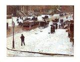 Fifth Avenue in Winter Art Print