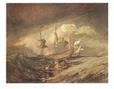 Boats with Anchors Art Print