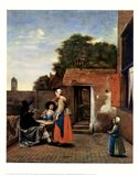 Dutch Courtyard Art Print