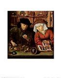 Moneylender and His Wife Art Print