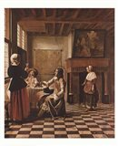Interior of a Dutch house Art Print