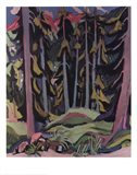 Forest with Brook Art Print