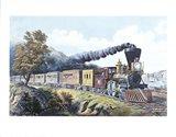 American Express Train Art Print