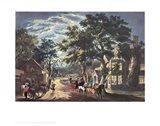 Currier and Ives - Wayside Inn Art Print