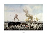 Currier and Ives - Whale Fishery Art Print