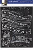 Chalkboard - Be Amazing Art Print