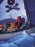 Robo Pirates CMYK Art Print